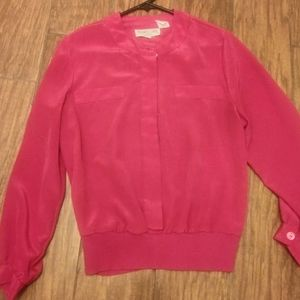 Andrea Gayle petites size 10 hor pink blouse
